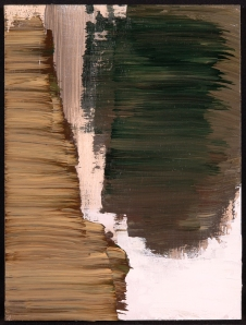 Forest Swatch No. 3. Randell Neudorf (c) 2006 Acrylic Paint on Wood Panel 9x12in.