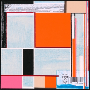 LP No. 8. Randell Neudorf (c) 2005 Acrylic Paint & Collage on Canvas 12x12in.