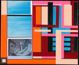 High Speed Randell Neudorf (c) 2005 Acrylic Paint & Collage on Canvas 24x20in.