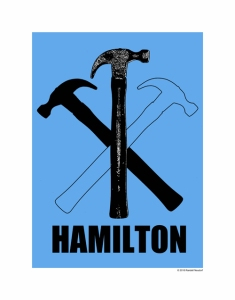 Poster Hammer - BLUE web size - 11x14